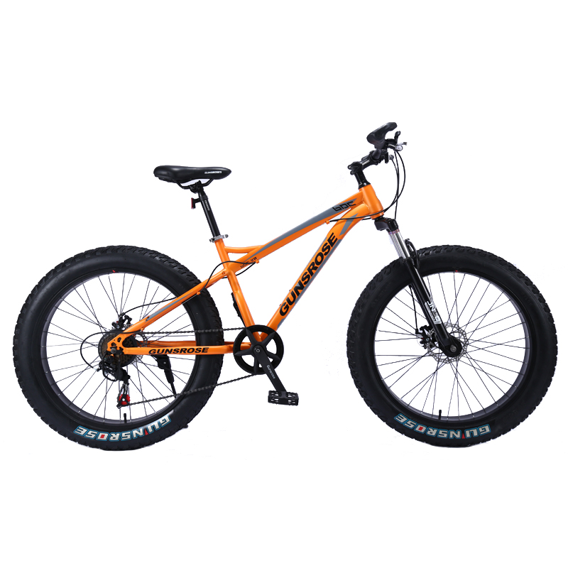 4.0 Fat Bike 24/26 Inch Mountain Bike Adult Mountain Bicycle 7/21/24/27 Speed Beach Snow Mountain Bike High Carbon Steel Bicycle