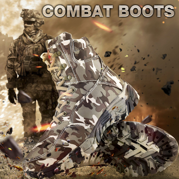 Outdoor Hiking Shoes Men Military Tactical Boots Autumn Camo Camping Trekking Boot Climbing Non-slip Wear-resistant Hiking Shoes 2
