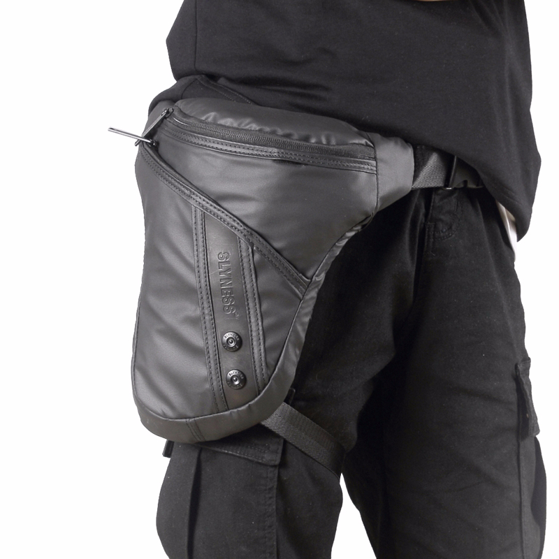 Waterproof Oxford/Canvas Waist Drop Leg Male Bag Motorcycle Riding Thigh Hip Bum Belt Designer Shoulder Men Bags Fanny Pack