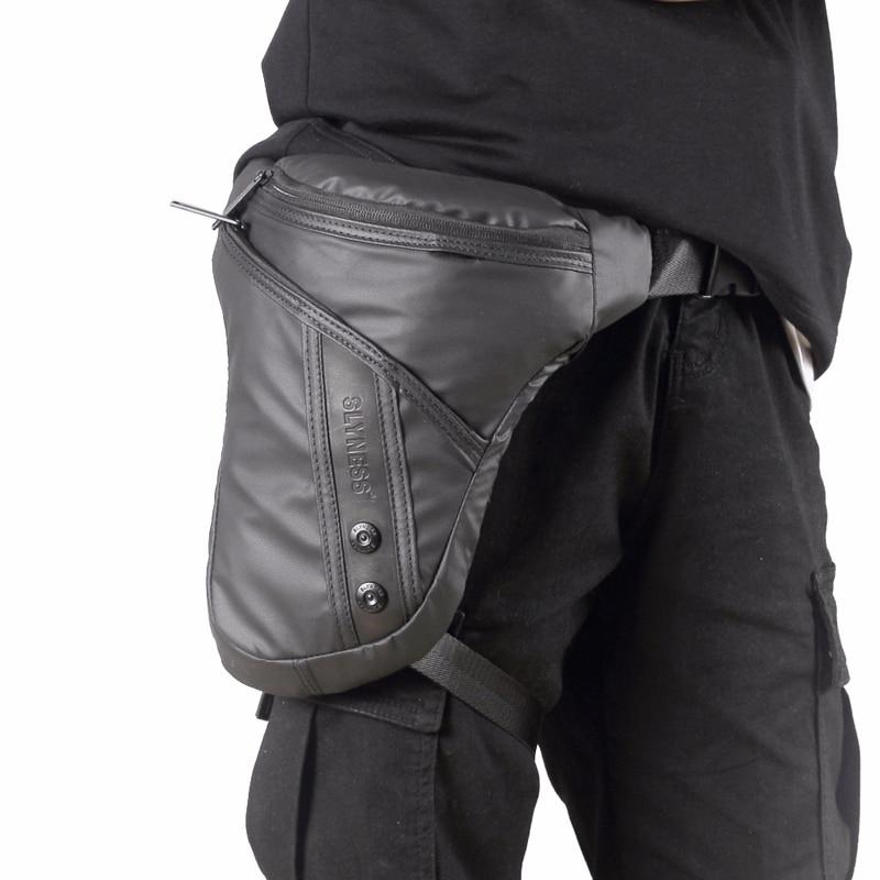 Bolsa da Motocicleta Bolsas de Ombro dos Homens à Prova Dwaterproof Água Oxford Lona Cintura Gota Perna Masculino Equitação Coxa Hip Bum Cinto Designer Fanny Pacote –