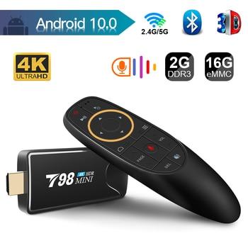 TV box android 10 Mini TV Stick 4K H.265 Media Player 3D Video 2.4G 5G Wifi Bluetooth Smart TVBox Set top box TV receiver