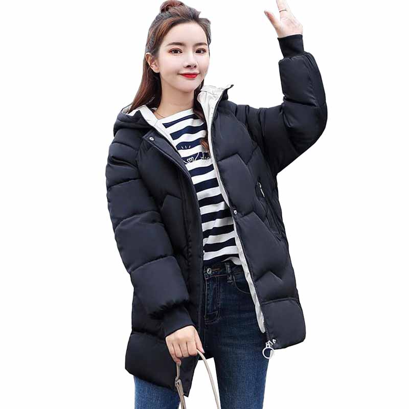 2019 New winter   parkas   students short coat down cotton jacket women hooded thicken Loose warm outerwear female plus size G539