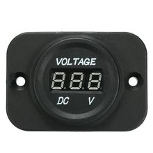 12V-24V Waterproof Car Motorcycle LED Digital Display Voltmeter Voltage Meter Black все цены