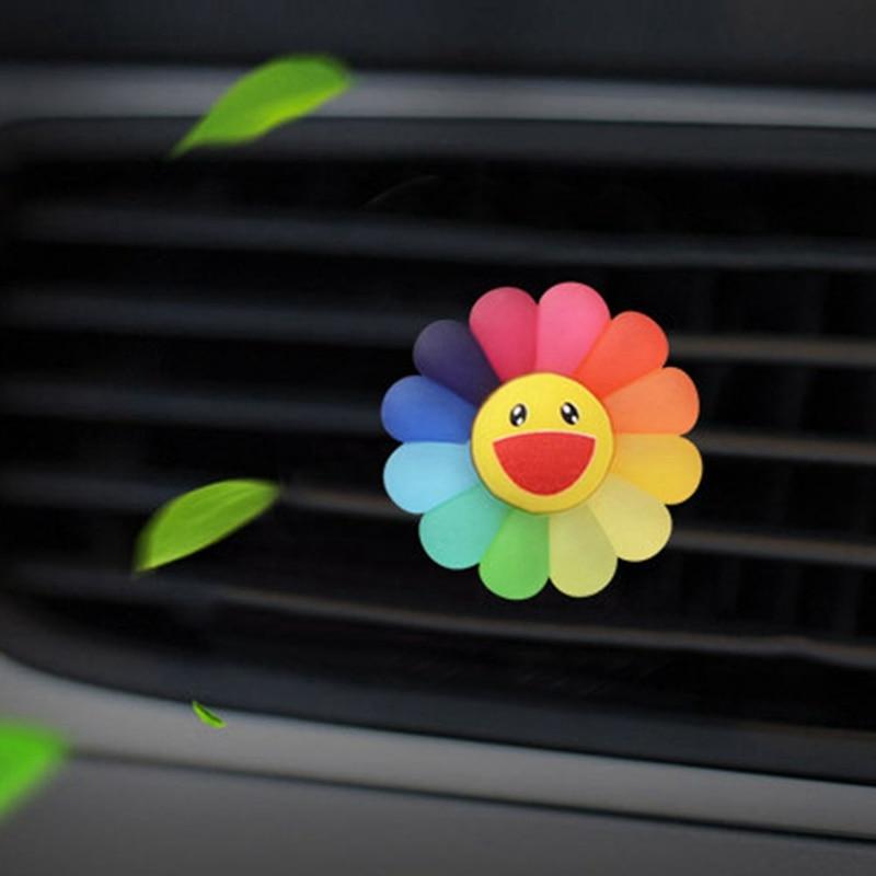 Автомобильный освежитель воздуха с изображением цветов от солнца, освежитель воздуха, освежитель воздуха на выходе, автомобильный