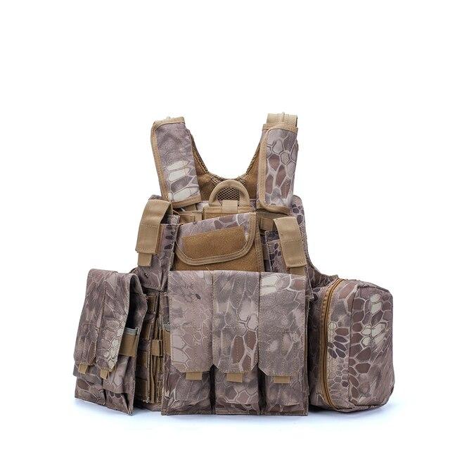 Airsoft Military  CIRAS Tactical Vest Molle Combat Assault Armor Plate Carrier Tactical Vest Kryptek Black Outdoor Hunting Vest 5