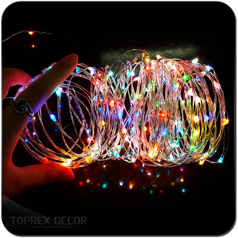 Battery Operated Led String Christmas Lights  Xmas Garland Fairy Lights Holiday Decoration Bottle Lights Wedding Decoration