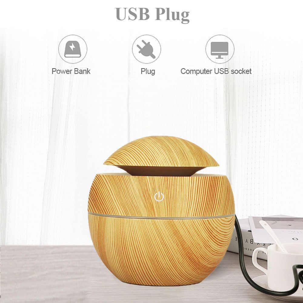 130ML ultradźwiękowy nawilżacz powietrza z lampa ledowa puchar odświeżacz powietrza olejku aromaterapeutycznego rozpylacz zapachów dla domu samochodu