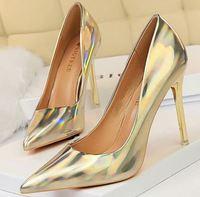 YEELOCA 2020 Women Designer Blue Green m002 High Heels Pumps Patent Leather Stripper Stiletto Wedding XS05674