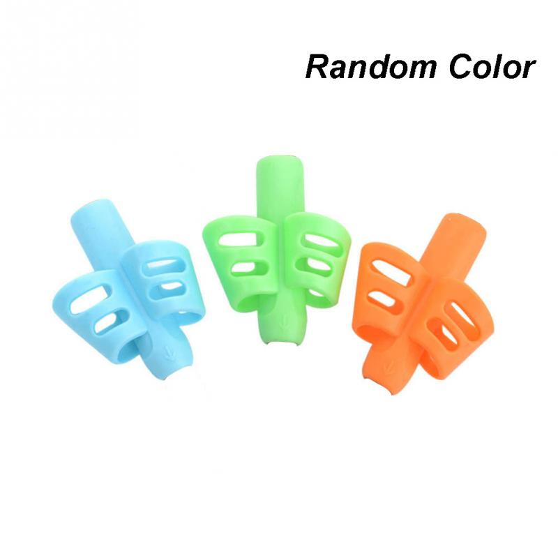 3 Pcs Silicone Children Writing Pencil Pan Holder Kids Learning Practise Pen Aid Grip Posture Correction Device For Students