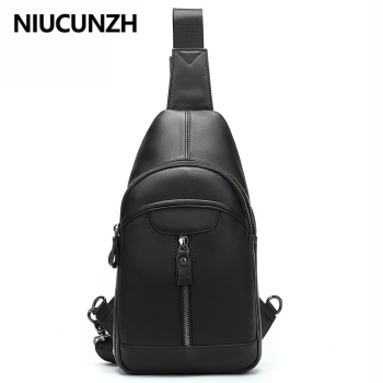 NIUCUNZH Men's Genuine Leather Shoulder Bags For Men Crossbody Bags Sling Strap Messenger Bag Men Leather Small Mens Chest Bag qibolu genuine leather mens sling bag single shoulder bag men chest pack messenger crossbody bag for man bolsas masculina mba37
