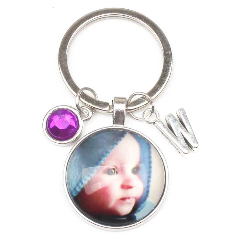 Nova 8 Cor Letras Pingente De Cristal Personalizado Foto Chaveiro Personalizado Da Foto Do Bebê Crianças Pai Mãe Avós Como Presente Da Família