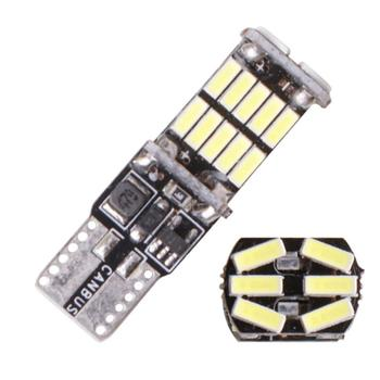Lampka sygnalizacyjna 1200Lm T10 W5W LED żarówki Canbus 4014 26SMD kontrolki biały 12V 7000K LED światła cofania tanie i dobre opinie CN (pochodzenie) Klirens lights T10 (W5W 194) 12 v Uniwersalny T10 Canbus 26smd led 2 5w Decoding light The width light