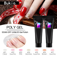 Bukio Finger Extension Camouflage UV LED Crystal Jelly Polygel Hard Gel Acrylic Builder Gel Pink White Primer for Nail Manicure(China)