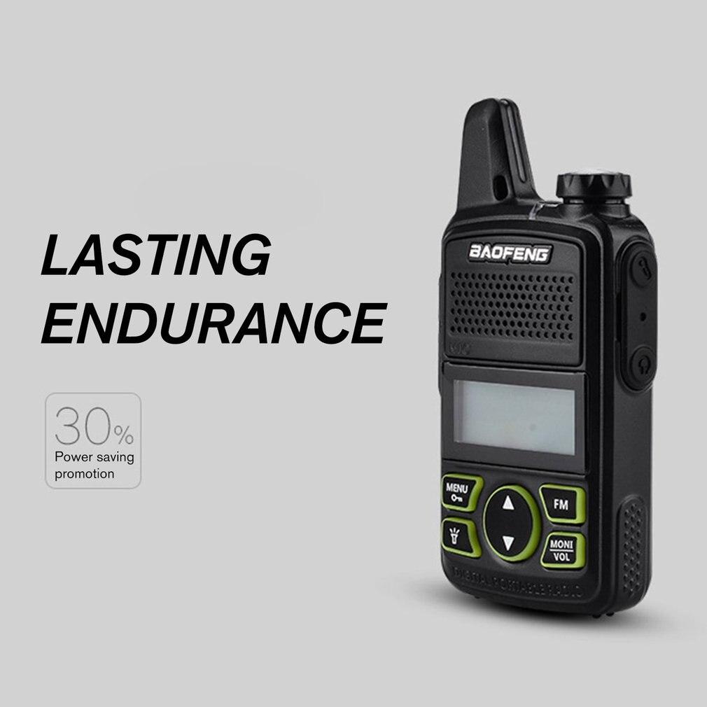BAOFENG T1 MINI Two Way Radio BF-T1 Walkie Talkie UHF 400-470mhz 20CH Portable Ham FM CB Radio Handheld Transceiver