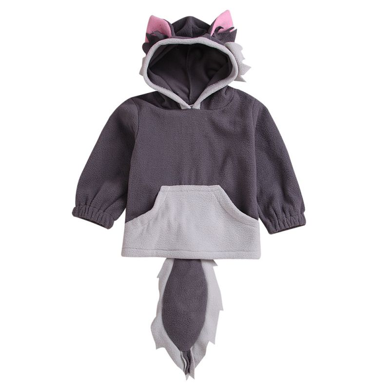 Child Cartoon Design Fox Baby Hooded Boy Girl Jacket Outwear Kids Party Clothing