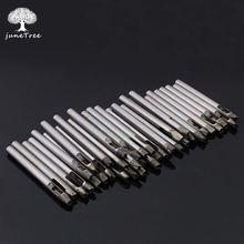 Junetree diy ferramenta de perfuração couro 5mm 3mm em forma flor estrela diamante perfurador truques diy buraco em forma oco perfurador couro artesanato