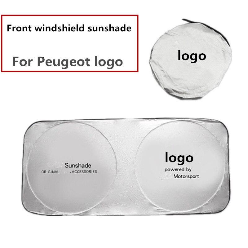 1 шт. солнцезащитный козырек для лобового стекла автомобиля Peugeot 206 207 208 307 308 407 3008 Солнцезащитный УФ-экранирующий чехол автомобильные аксесс...