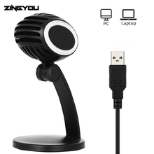 ZINGYOU New Desktop USB Studio Speech Microphone Adjustable Laptop Microphone Stand Mic With Holder For PC Laptop Chatting Sing