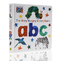 The Very Hungry Caterpillar's ABC By Eric Carle English Language Reading Card Board Books for Kids Learning Toy