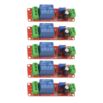 5PCS DC 12V Time Delay Relay NE555 Time Relay Shield Timing Relay Timer Control Switch Module new sr 104a serial control 2 way relay module delay relay single chip microcomputer controller