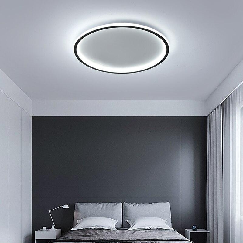 cheapest Modern Led Ceiling Light 42W Black Ceiling Lamp For Bedroom Living room Dining room Kitchen Foyer Lighting Fixtures 110V 220V