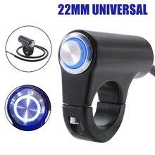 7/8\\\ 22mm LED Motorbike Handlebar Headlight Switch Fog Lights ON/OFF Waterproof.