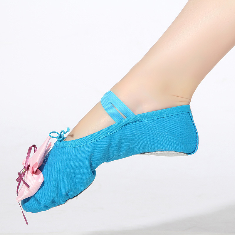 Zapatos de Ballet para niños adultos zapatos de baile de fondo suave para niñas zapatos de Ballet de Yoga