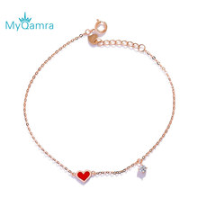 New Fashion Design Little Red Heart  Bracelets For Women Hand Chain Jewelry Gift
