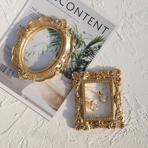Retro Photo Frame Gold Picture Frame Home Decor Photography Props MINI Wedding Pictures Frames Gifts Desk Decoration Ornament