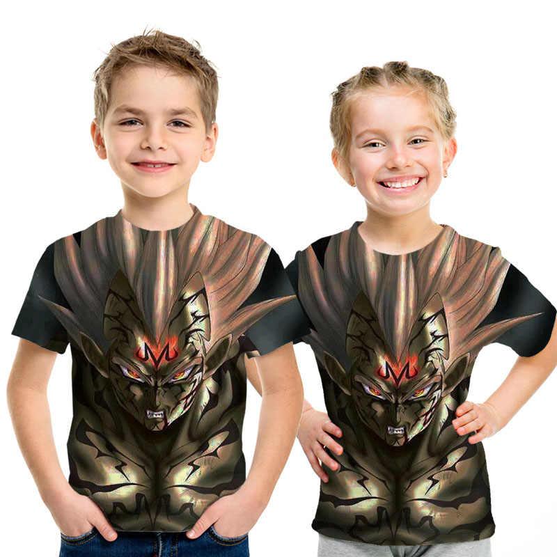 Новая футболка с драконом и шариком для детей, летние футболки для косплея с 3D принтом «Жемчуг дракона», «суперсон Гоку», футболки для мальчиков и девочек
