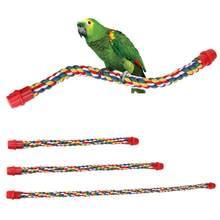 Jouets pour animaux de compagnie, corde en coton suspendue, cadre, confortable, à mâcher, tige d'escalade