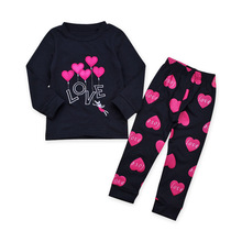 Spring Autumn Kids Girls Clothes Sets Baby Girl Fashion Long Top + Pants Casual Kids Outfits Clothing стоимость
