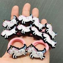 Girls Headband Scrunchies Hair-Accessories Unicorn Ties Elastic Children Nylon Cartoon