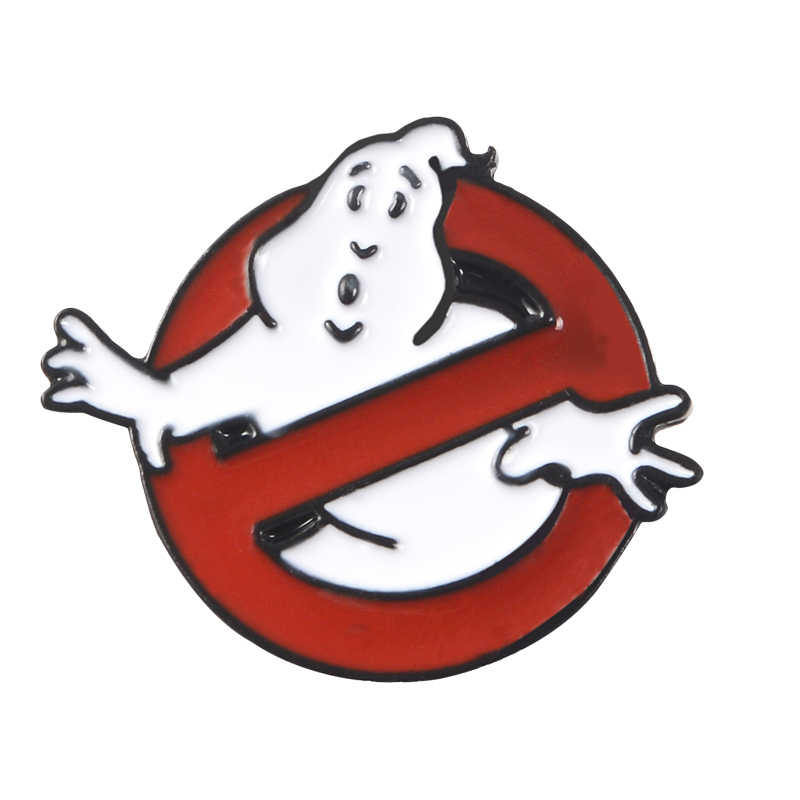 Ghostbusters Emaille Pin White Ghost Badge Broche Bag Kleding Revers pin Cartoon Fun Film Sieraden Gift voor fans Vrienden