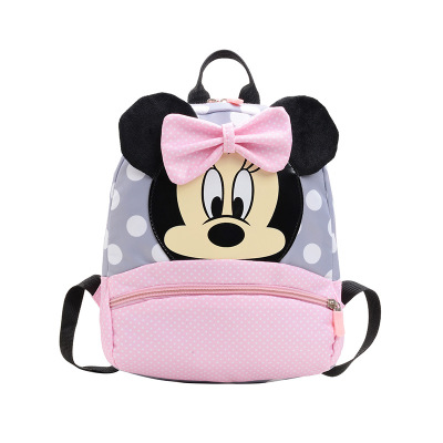 Disney Kindergarten Schoolbag Boy Children Mickey Mouse Backpack Cute Cartoon Backpack 2-5 Years Girl Pink Travel Backpack