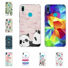 For Huawei Y5 2019 Y6 2018 Y7 Case TPU Mate 20 lite Cover Geometric Pattern II Honor 5 7A 8S Shell