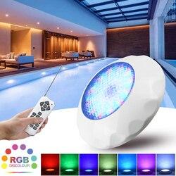 ABS светодиодный светильник для бассейна IP68 Водонепроницаемый подводный светильник 12 в настенный светодиодный светильник погружной RGB свет...