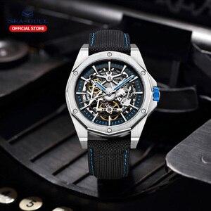 Image 5 - 2020新カモメ腕時計メンズ自動機械式中空視点機械式時計大型ダイヤル防水人格の腕時計
