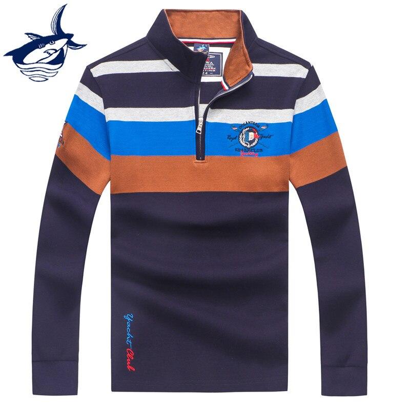 Casual Pull Homme 2019 Brand Tace & Shark Sweater Men Zipper Knitted Wear Striped Pullover Men Autumn/Winter Men's Sweaters