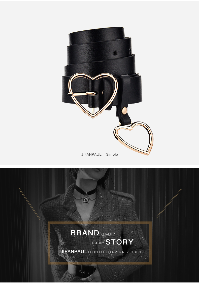Ha0dd77d017734bcbacd21acccef8a9f6s - JIFANPAUL New sweetheart buckle with adjustable ladies luxury brand cute Heart-shaped thin belt high quality punk fashion belts