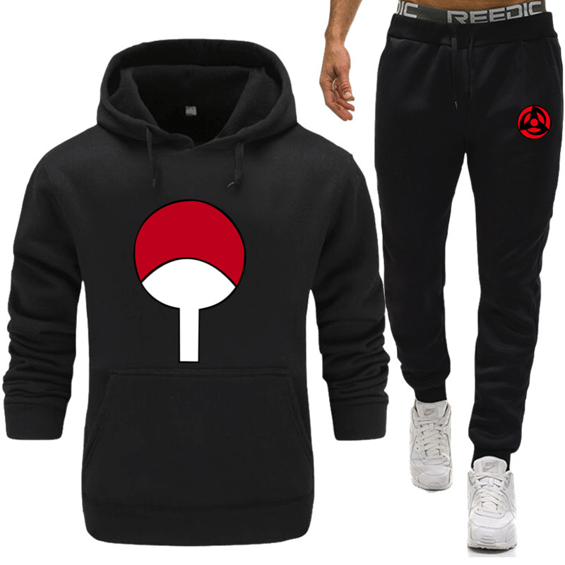 Men Print Sportswear Set Spring Autumn Hoodies Set Mens Tracksuit  Hip Hop Sweatshirt+pants Male Casual Two Pieces Track