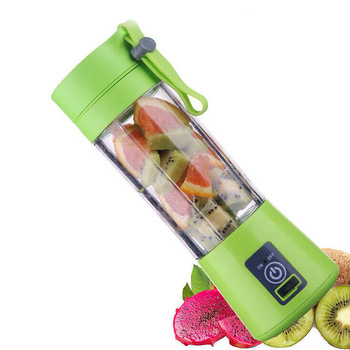 Exprimidor portátil de 380ml eléctrico USB recargable batidora máquina mezcladora Mini jugo máquina procesadora de alimentos 66CY