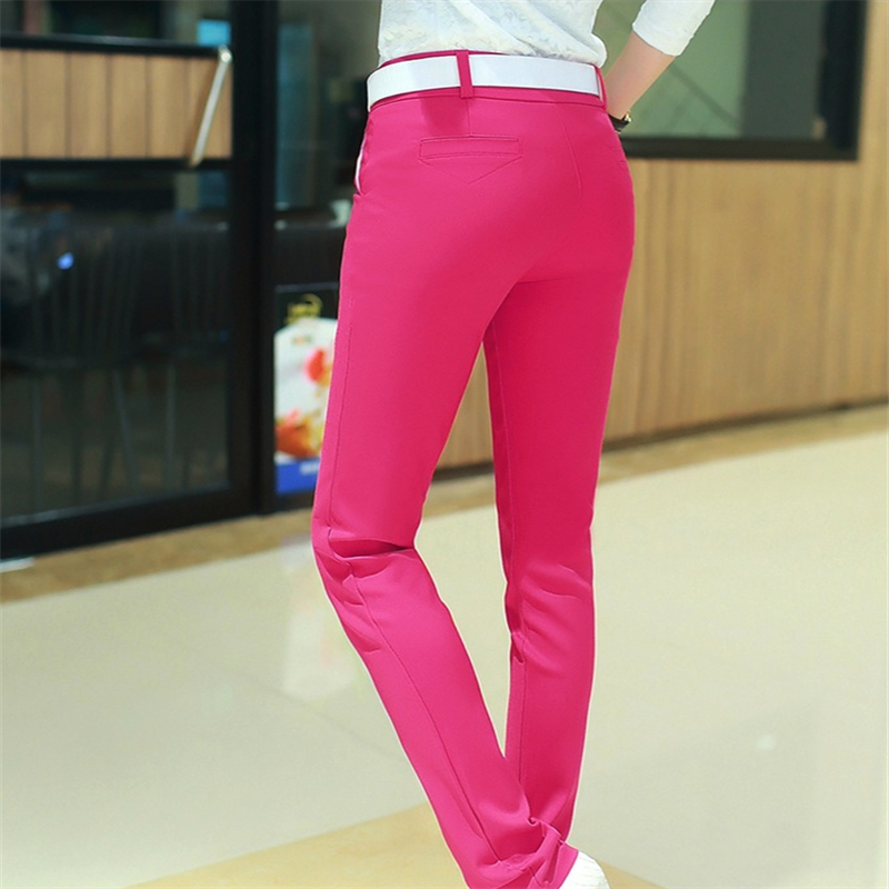 2019 New High Quality Women's Casual Pants Solid Pants  25-36