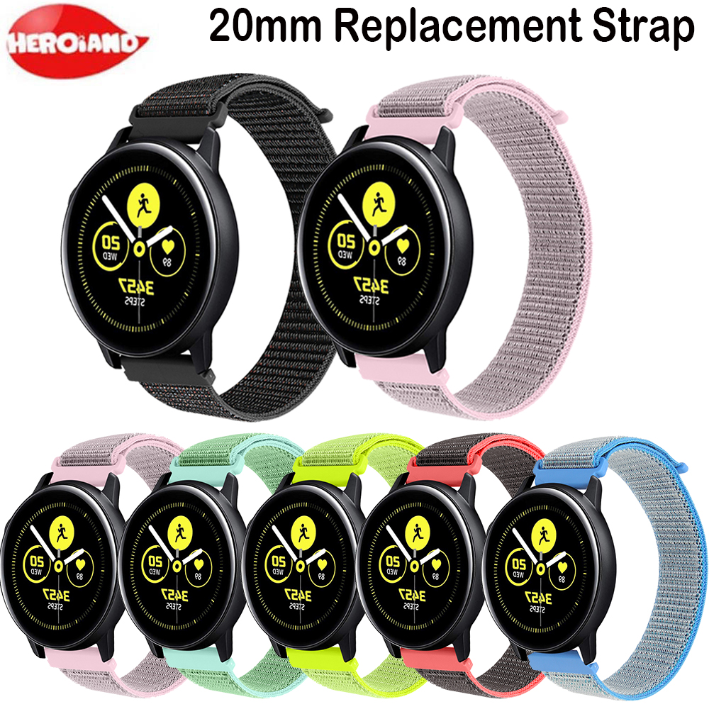 Bracelet Watch Band 20MM Strap 42mm Silicone Active 2 For Samsung Galaxy 40mm 44m Smart Watch Replacement Strap For Gear S2 Spor
