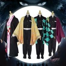 Demon Slayer Kimetsu no Yaiba Anime Cosplay Costume Kimono Set Kamado Tanjirou Japanese Adult Costumes