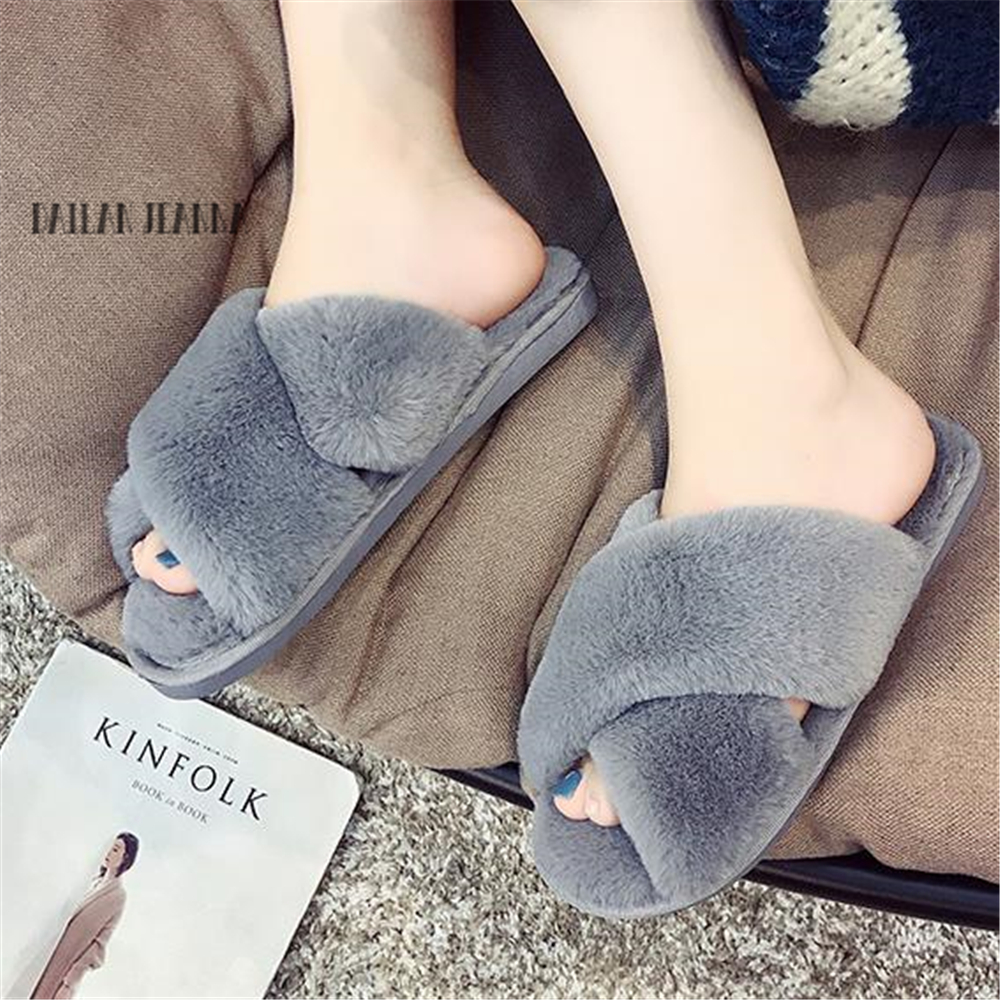 019 Cotton Trailer Female  Thick-soled Home Fashion Women's Shoes Korean Version  Indoor Non-slip Soft Bottom Warm Wool Slippers