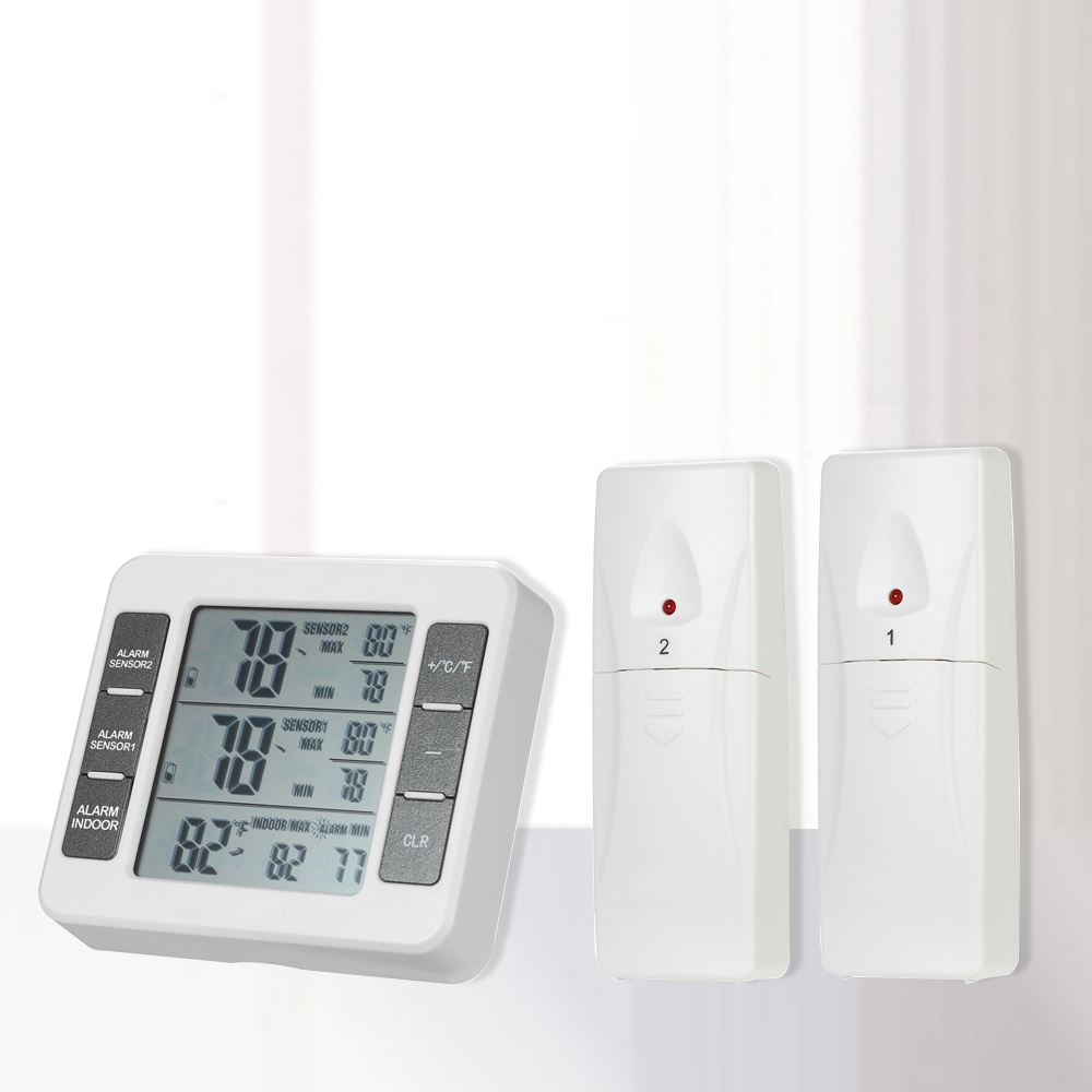 Digital LCD <font><b>Thermometer</b></font> Feuchtigkeit Wetter Station Drahtlose Sender Mit Maximale Wert Display Home Indoor Outdoor image