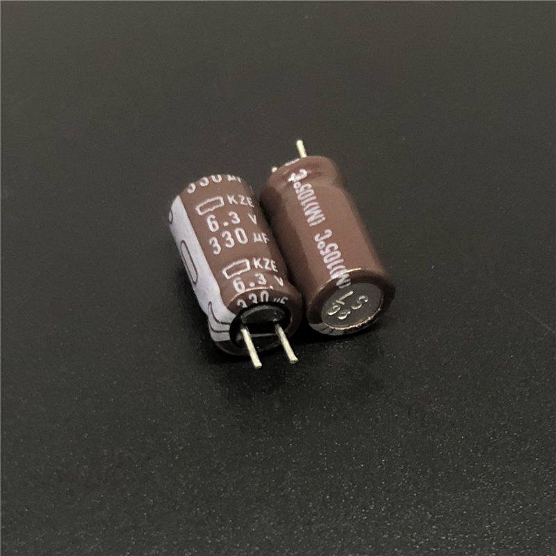 10pcs 330uF 6.3V NCC KZE Series 6.3x11mm Low Impedance Low ESR 6.3V330uF Aluminum Electrolytic Capacitor
