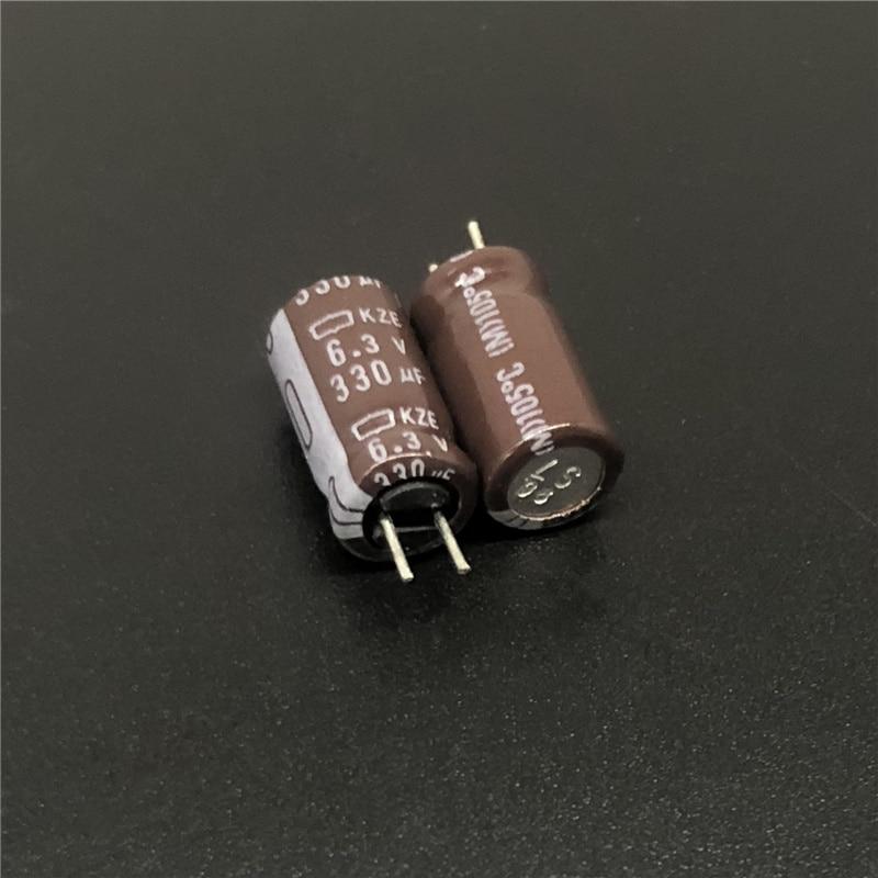10pcs 330uF 6.3V NCC KZE Series 6.3x11mm Low Impedance Low ESR 6.3V330uF Aluminum Electrolytic Capacitor