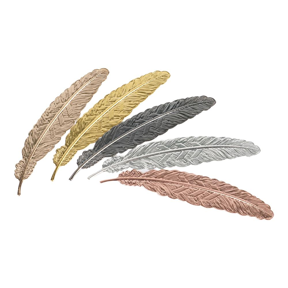 Creative Retro Metal Feather Bookmark Beautiful Cool Book Page Mark Children Student Gift Stationery School Office Supplies 1Pc